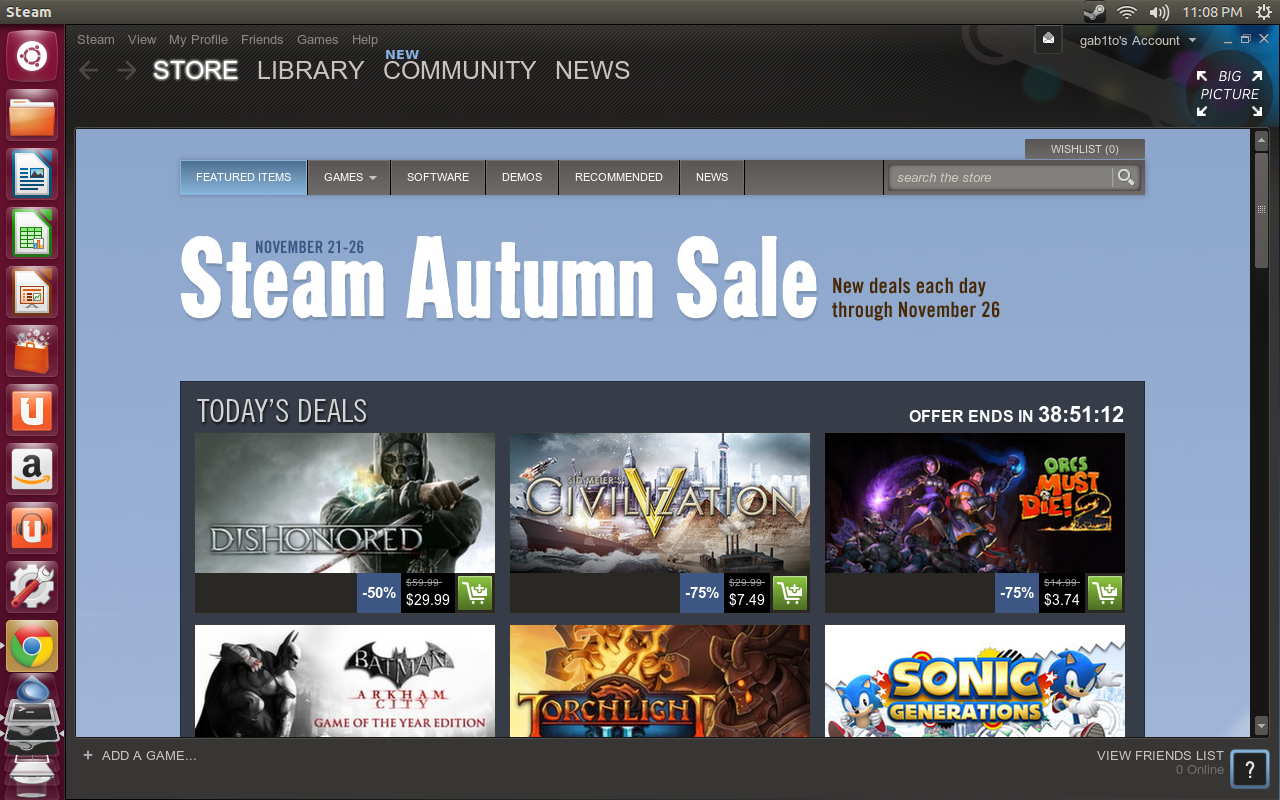 SteamStore Primer vistazo a Steam en Ubuntu 12.10