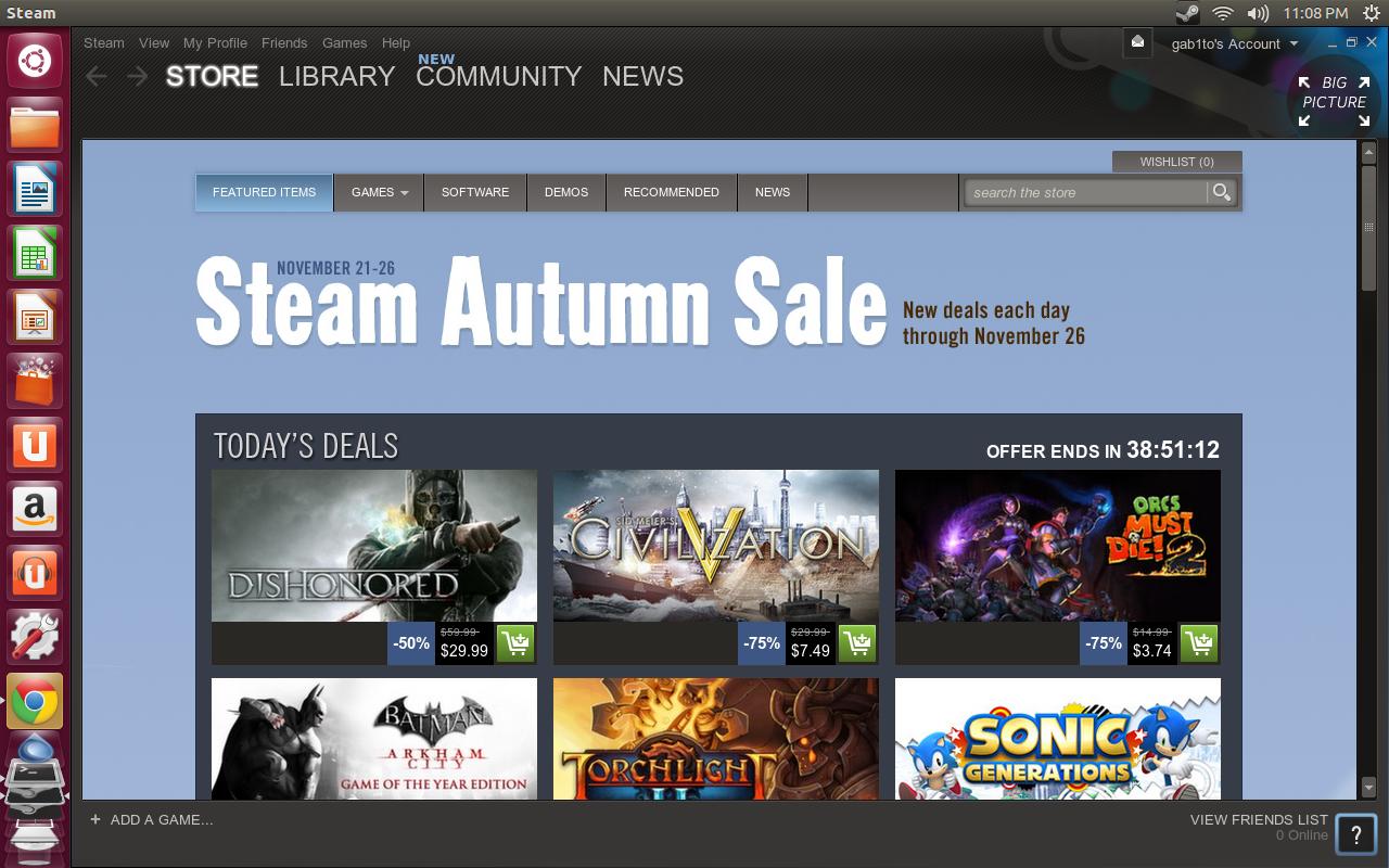 SteamStore Primer vistazo a Steam en Ubuntu 12.10
