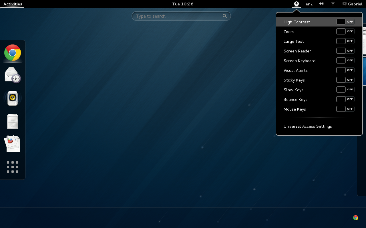 Fedora 18 Beta 1 gnome shell
