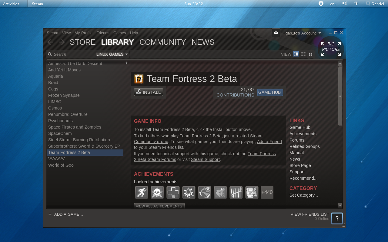 Steam Fedora