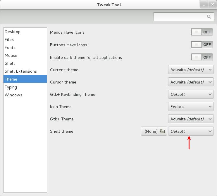 Tweak Tool 002 Cómo instalar temas en Gnome Shell 3.6