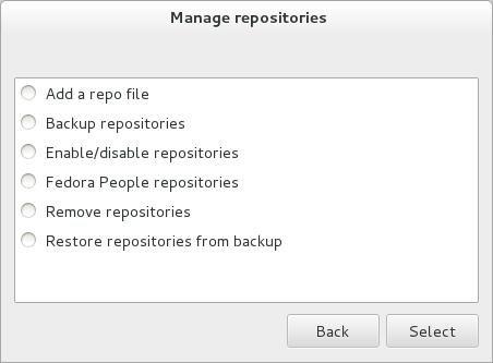 Manage repositories 016 Instala lo necesario en Fedora 18 con Fedora Utils