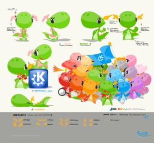 kdemascot 300x280 Y el ganador del concurso para rediseñar la mascota de KDE(Konqui) es...