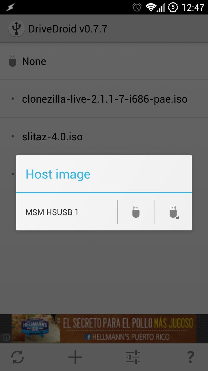 Mountdistro DriveDroid   Una aplicación que todo linuxero debe tener en su Android