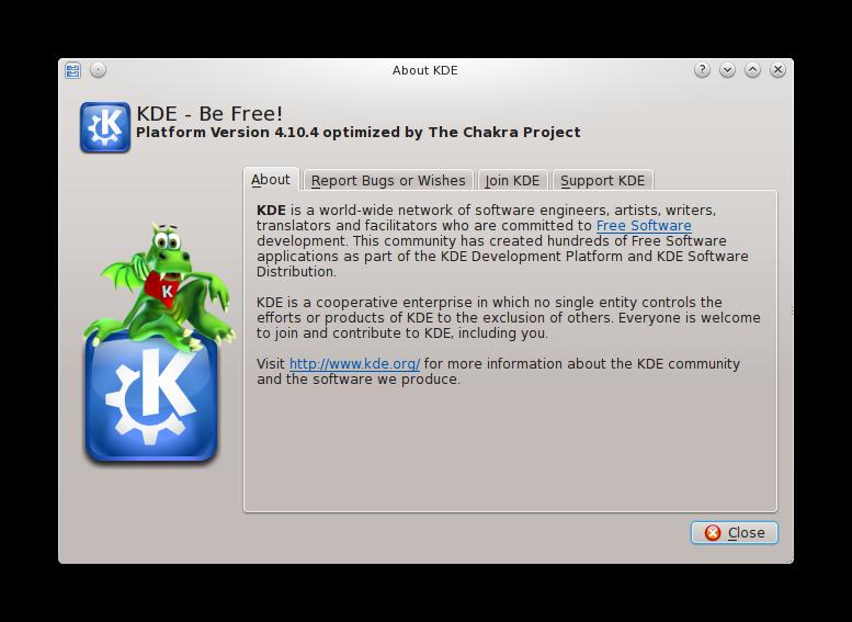 kde4.10.4 Disponible KDE SC 4.10.4 para Chakra