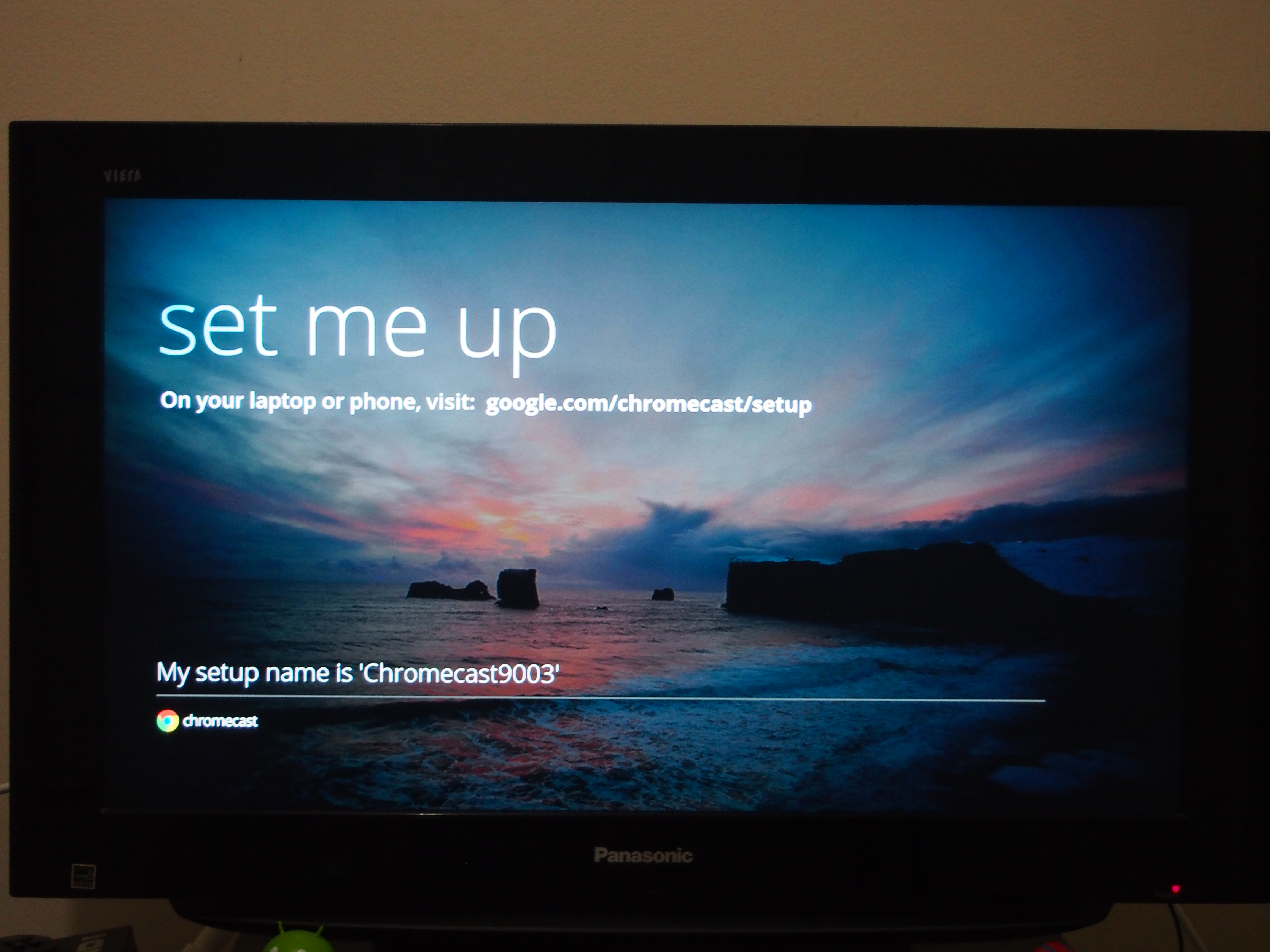 Chromecast setup TV