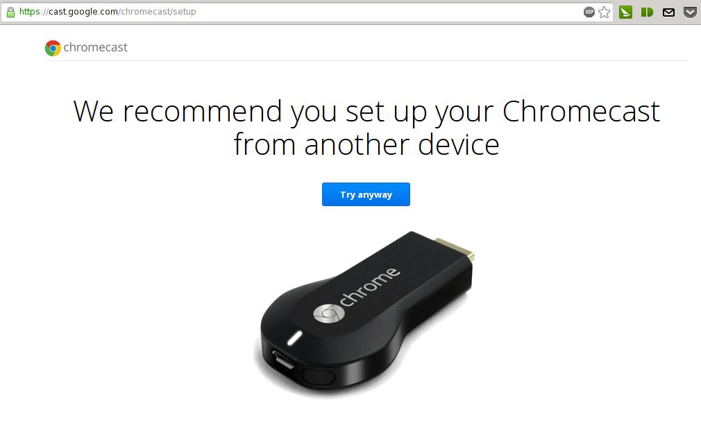chromecastsetup Probando y configurando el Chromecast en Linux