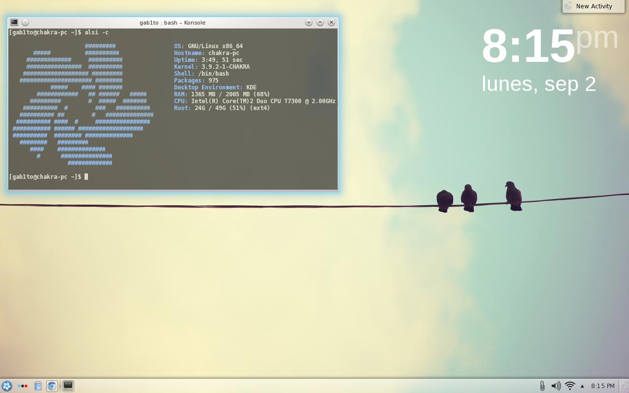 pantallazosept KDE4Tips: Embelleciendo el terminal de KDE