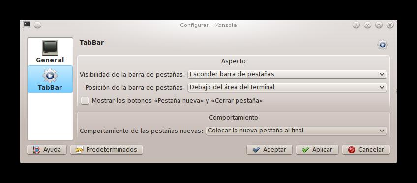 tabbar KDE4Tips: Embelleciendo el terminal de KDE