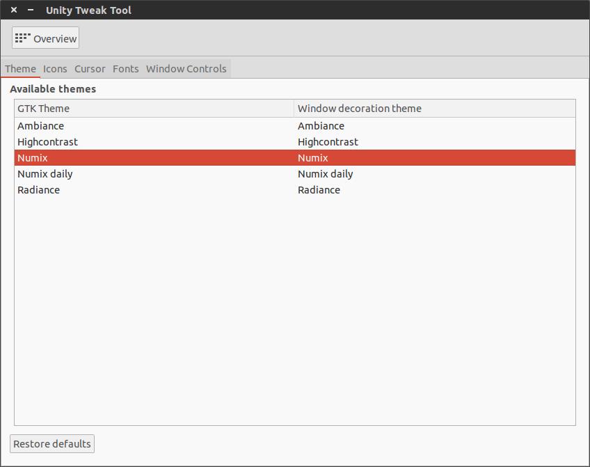 Unity Tweak Tool 021 Embellece Ubuntu con el tema Numix