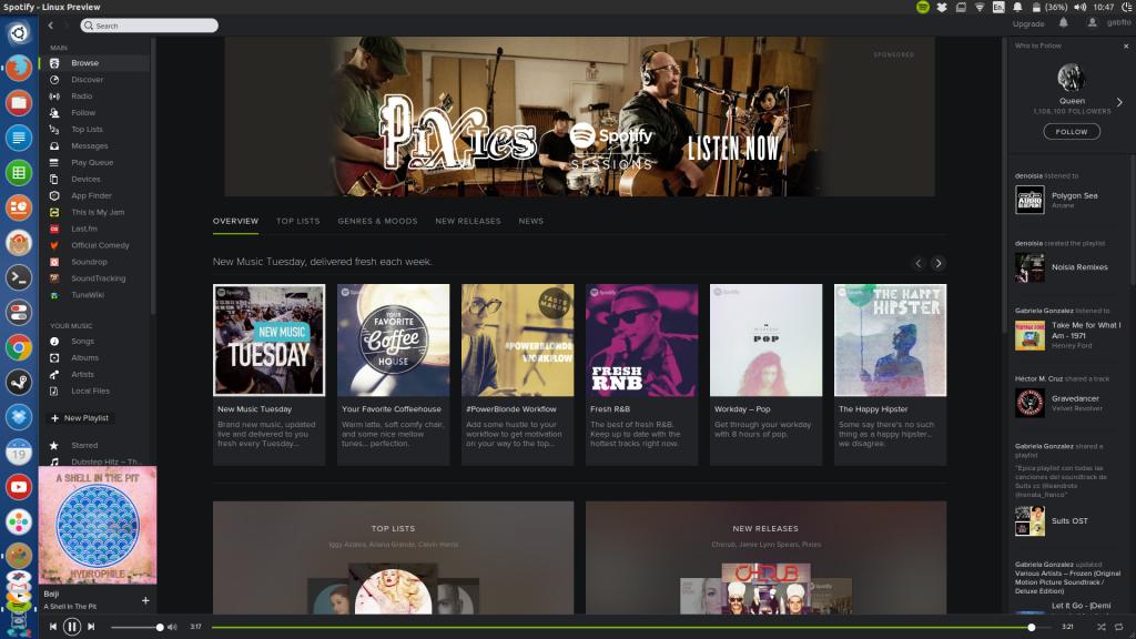 spotify new 1024x576 El nuevo diseño de Spotify llega a Ubuntu