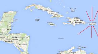 PuertoRico Caribe mapa